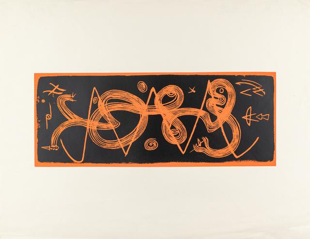 Kompozycja (pomarańczowo-czarna), lata 50. XX w.