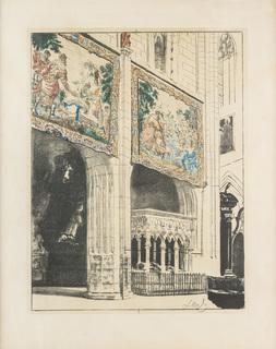 Wnętrze Katedry na Wawelu z Arrasami I, 1921