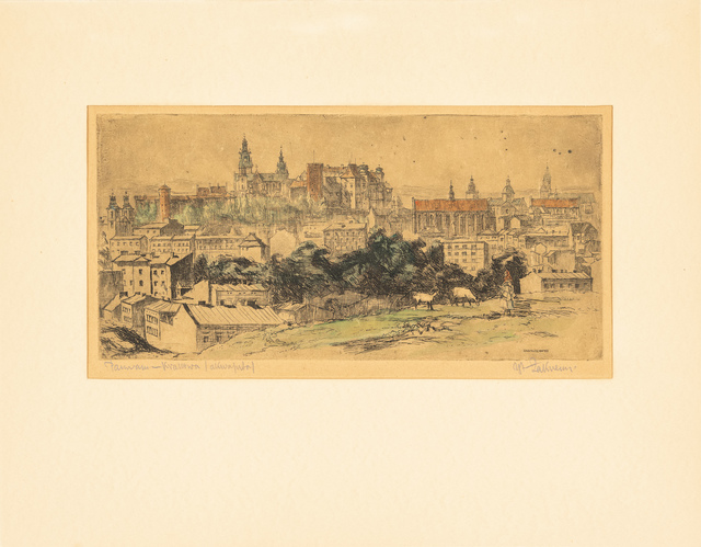 Panorama Krakowa, lata 30. XX w.