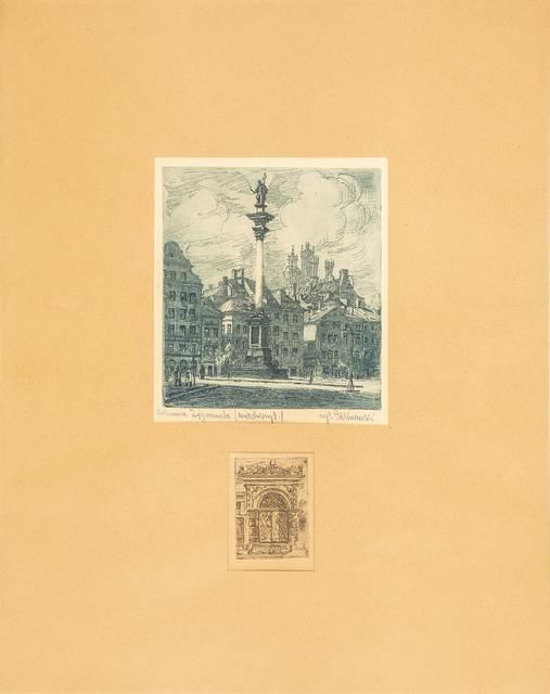 Kolumna Zygmunta, lata 30. XX w.