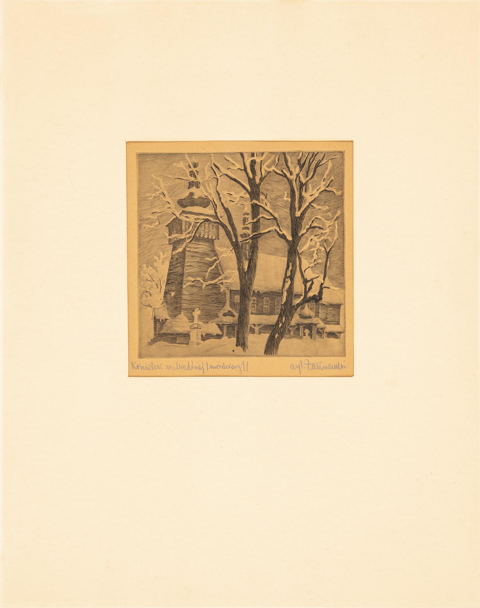 Kościółek w Miedźnej (ziemia pszczyńska), lata 30. XX w.