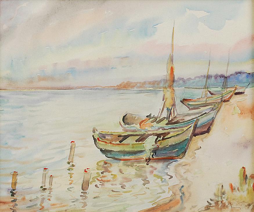 Łodzie przy brzegu, 1919