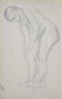 Akt pochylającej się kobiety, 1941