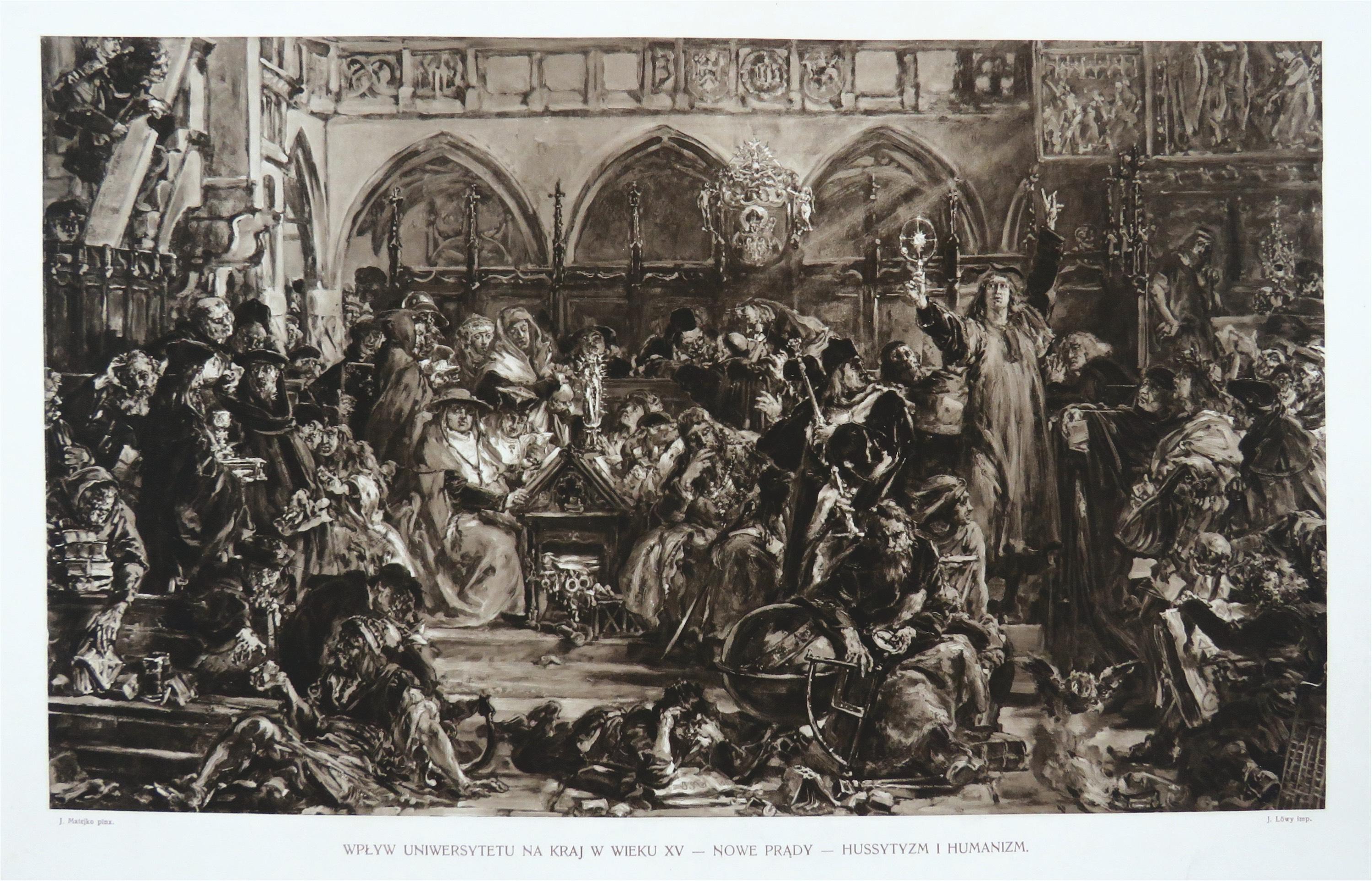 Wpływ Uniwersytetu na kraj w wieku XV – Nowe prądy – husytyzm i humanizm