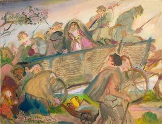 """EXODUS """"Ucieczka"""" z cyklu """"IX 1939"""", 1964"""
