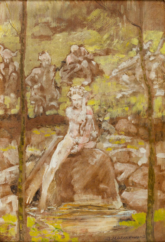 """Fauny, z cyklu """"Spłoszony koń"""", około 1899"""