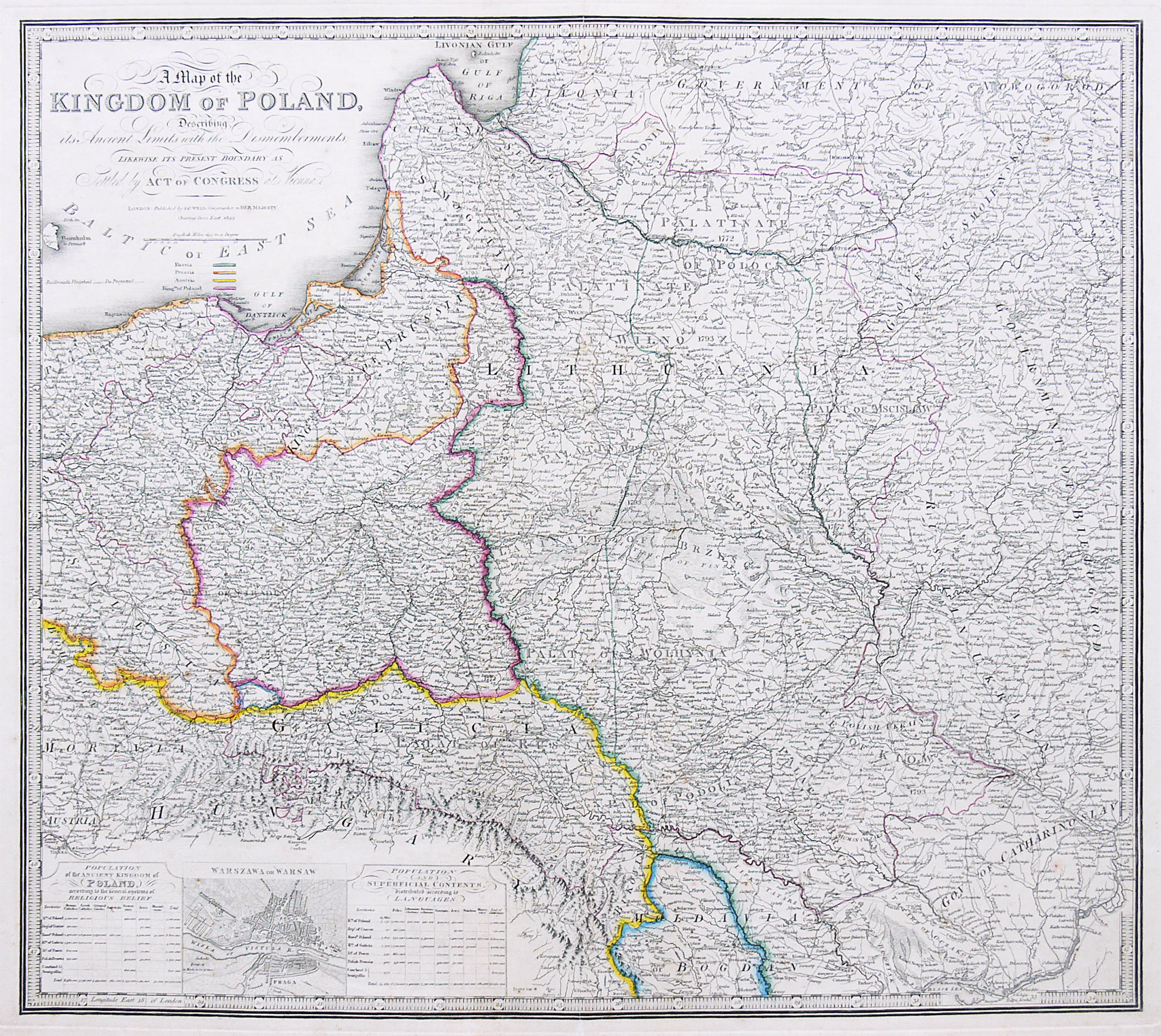 A map of the Kingdom of Poland…