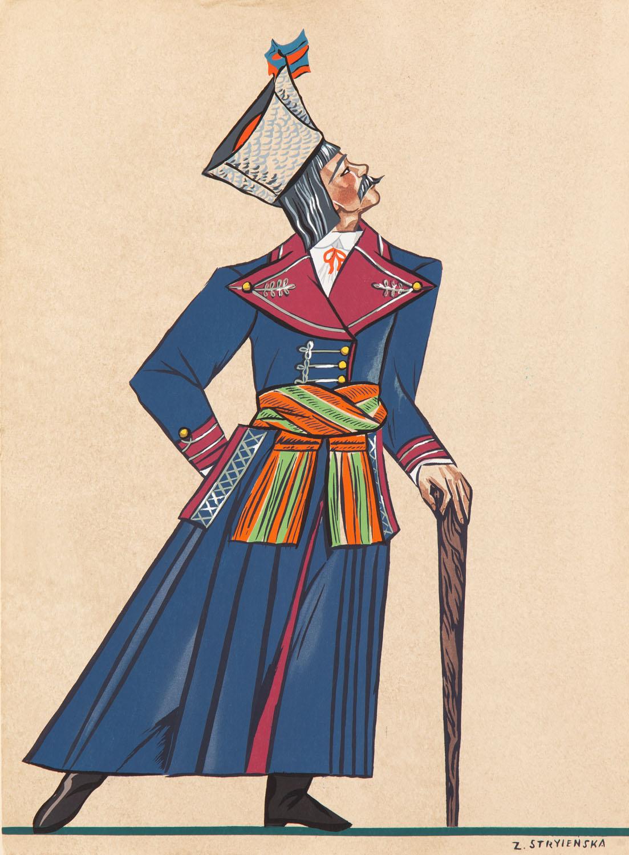 Chłop z Wilanowa koło Warszawy (palto), plansza VII z teki 'Polish Peasants' Costumes', 1939