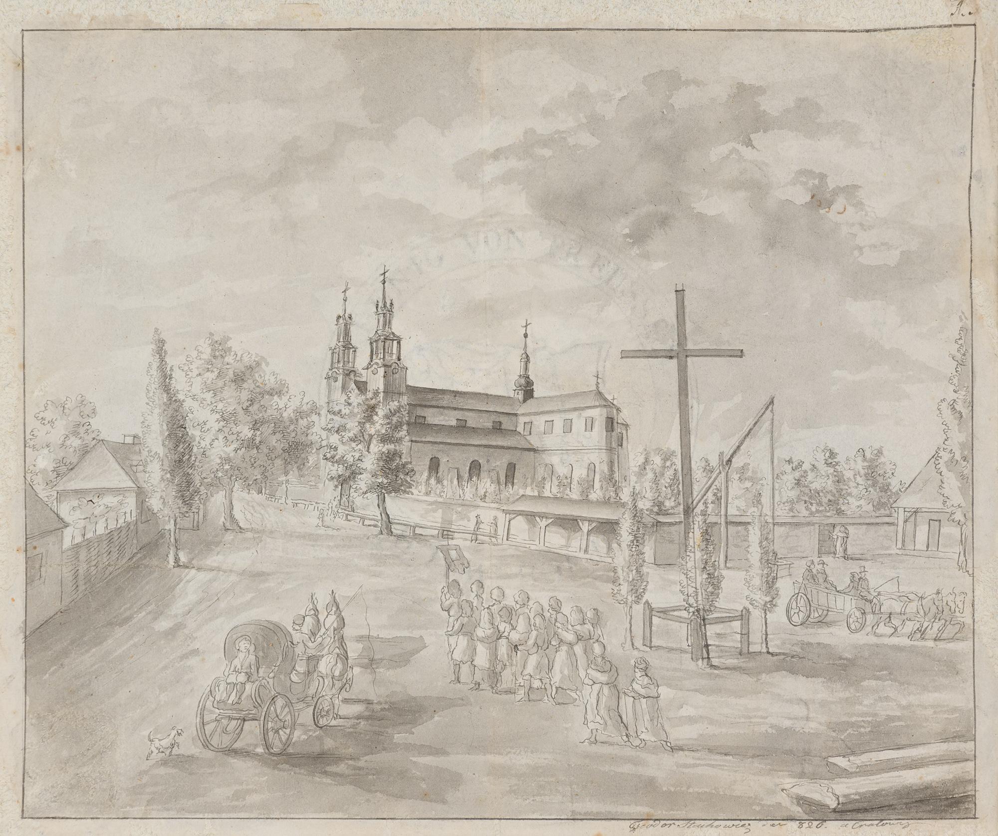Kraków. Kościół św. Floriana na Kleparzu, 1826