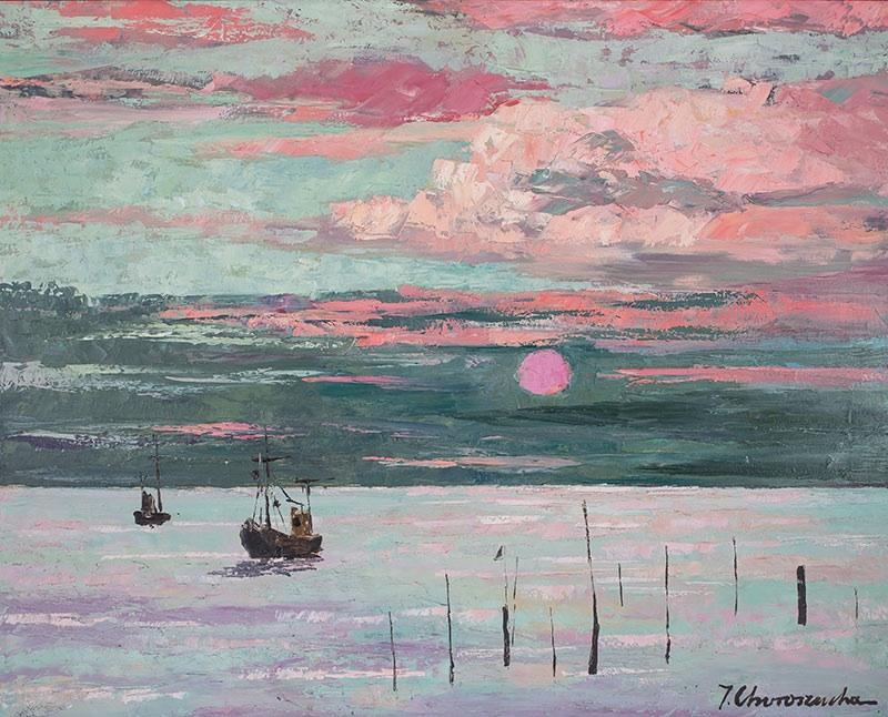 Zielony zachód słońca, 1987 r.