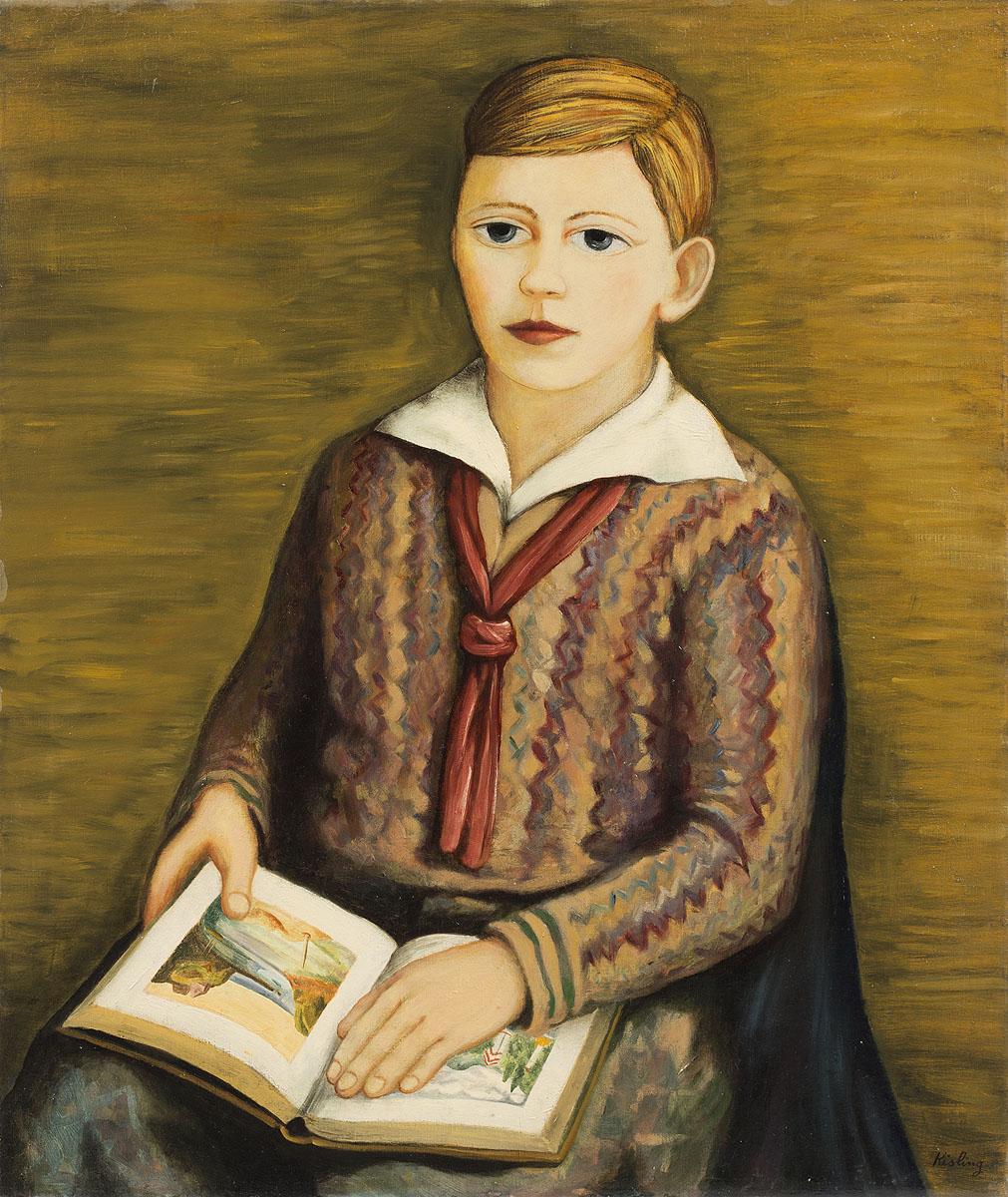 Chłopiec z książką, 1920