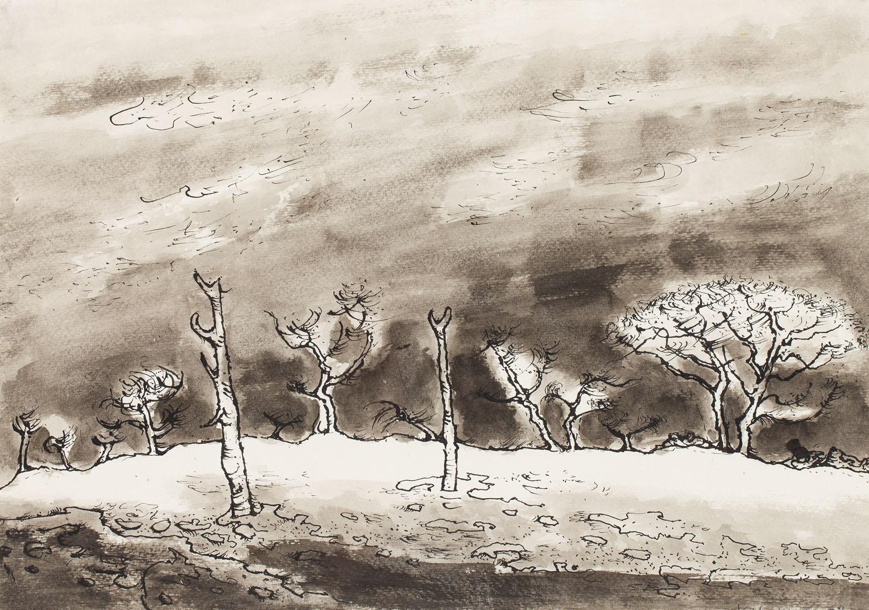 Pejzaż z drzewami, 1978