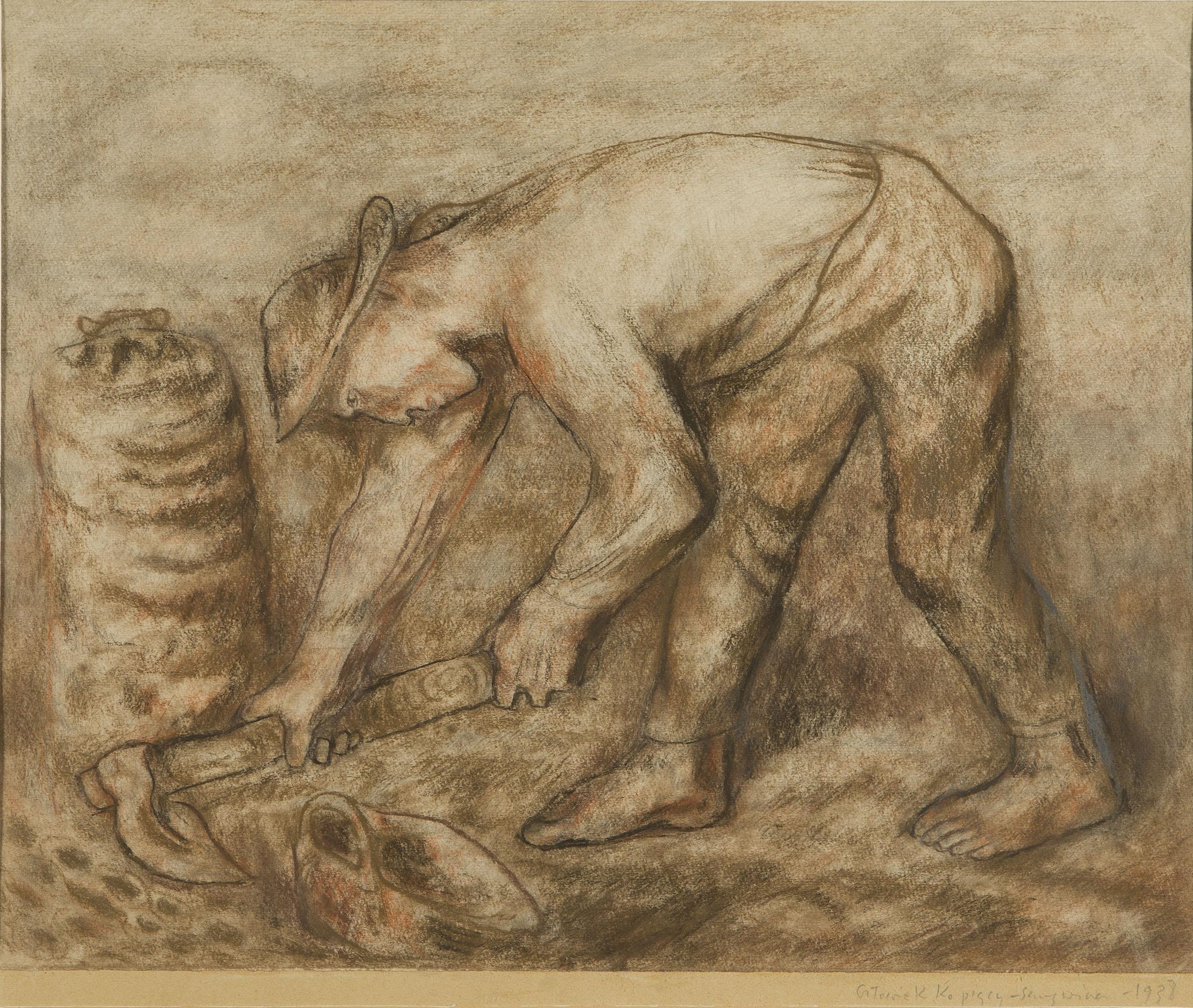 """""""Człowiek kopiący"""", 1938"""