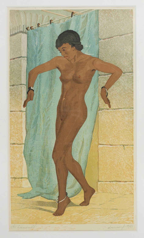 Kobieta wychodząca z kąpieli