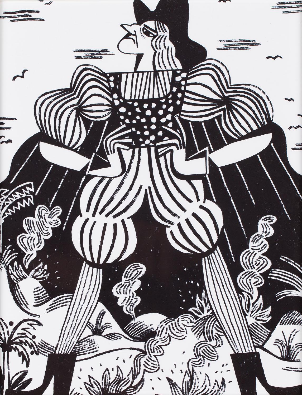 """Ilustracja z książki Artura Domosławskiego """"Kolumb. Całkiem inna historia"""" (3), 2019"""