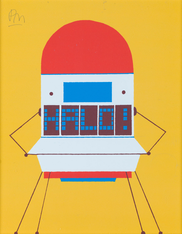 """Ilustracja """"Satelita"""" z książki """"Ciekawe, co myśli o tym królowa"""", 2013"""