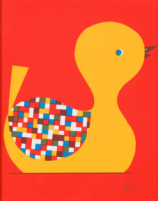 """Ilustracja """"Kaczka"""" z książki """"Ciekawe, co myśli o tym królowa"""", 2013"""