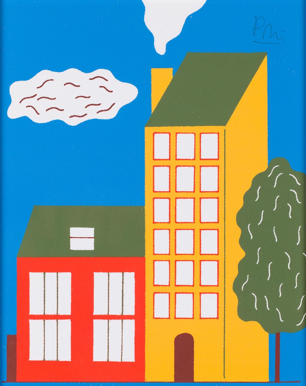 """Ilustracja """"Domy"""" z książki """"Ciekawe, co myśli o tym królowa"""", 2013"""