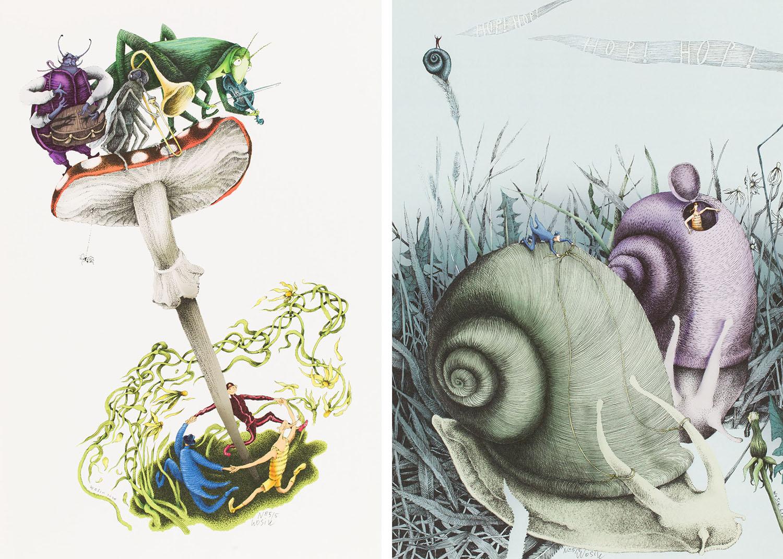 """""""Trzy wesołe krasnoludki"""" - zestaw dwóch ilustracji, 2020"""