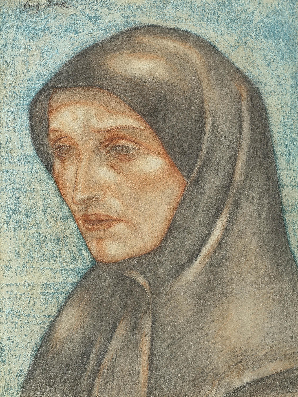 Głowa mniszki, około 1912-13