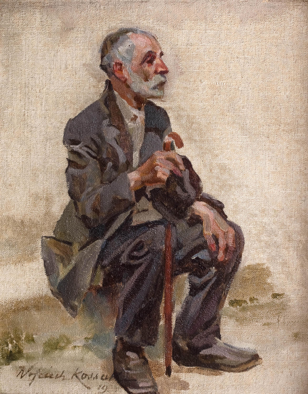 Siedzący starzec