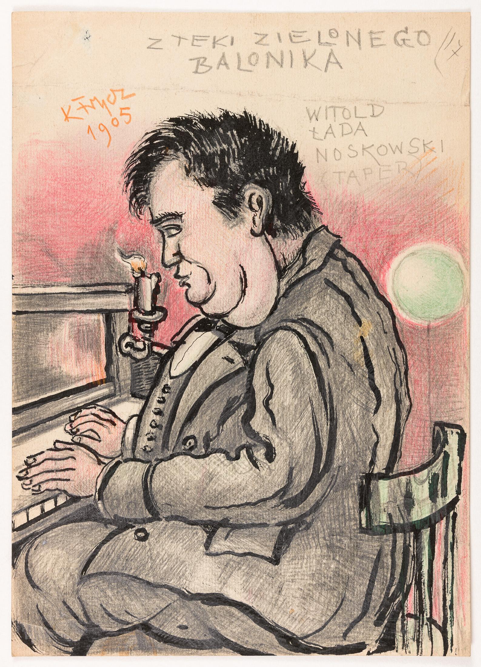 Witold Noskowski przy pianinie, 1905