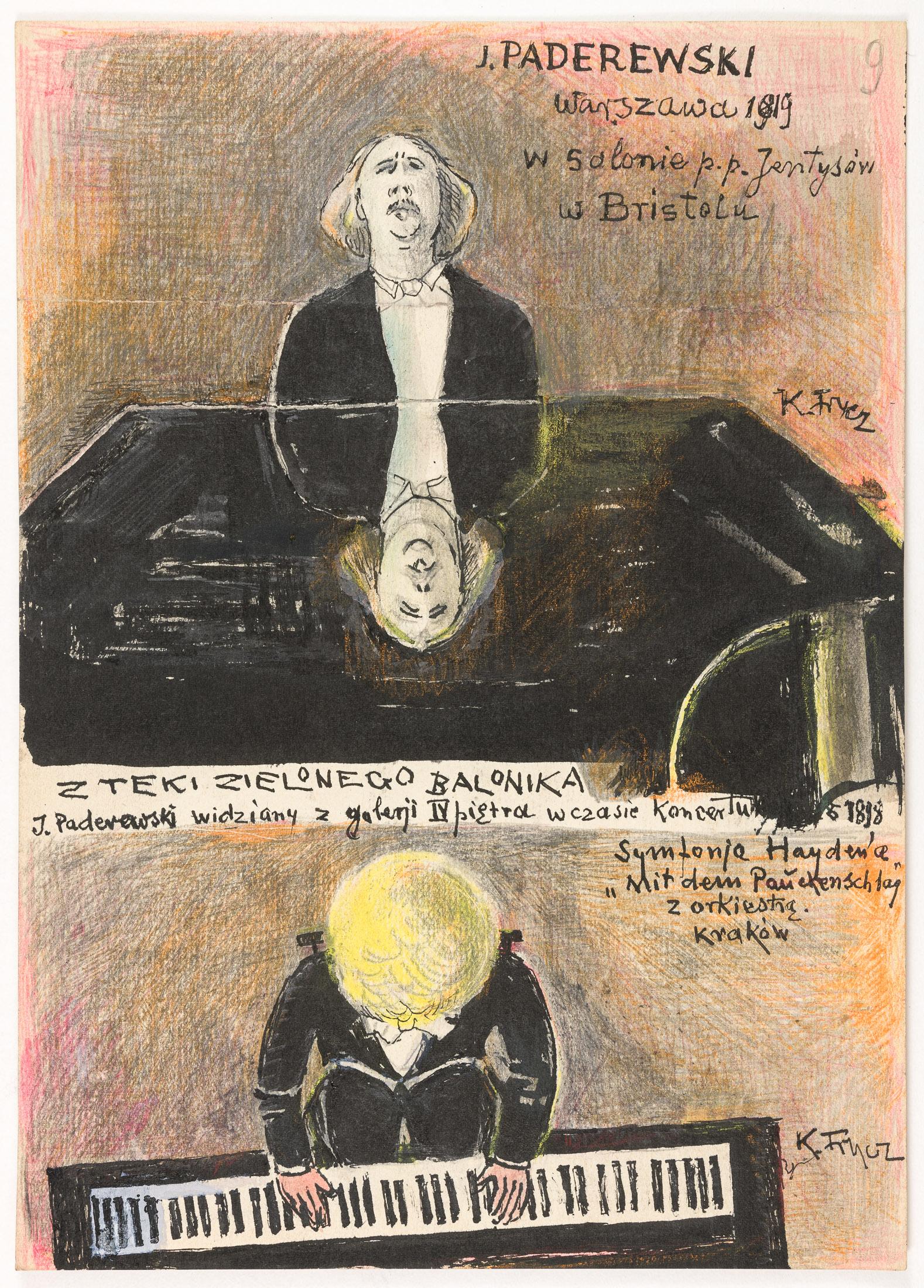 Ignacy Paderewski w czasie warszawskiego koncertu, 1919