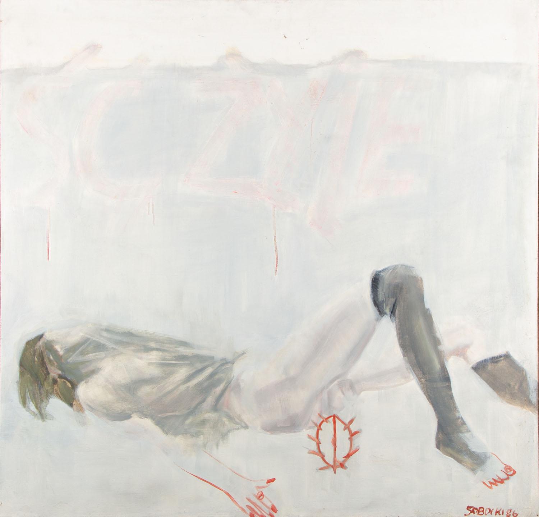 """""""Sztafaż III"""" z cyklu """"Graffiti polskie"""", 1986"""