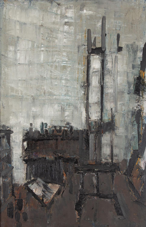 """""""Wnętrze pracowni szare"""", 1986"""