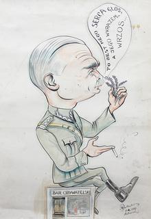 Karykatura oficera, 1947 r.