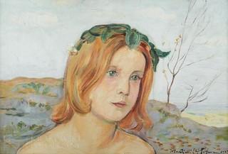 Wiosna (portret dziewczynki w wianku), 1923