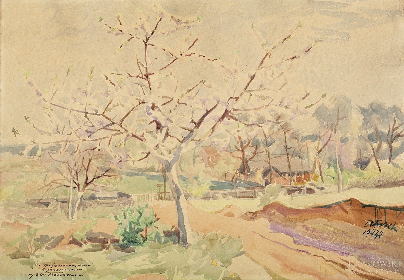 Kwitnąca jabłoń, 1943-1944