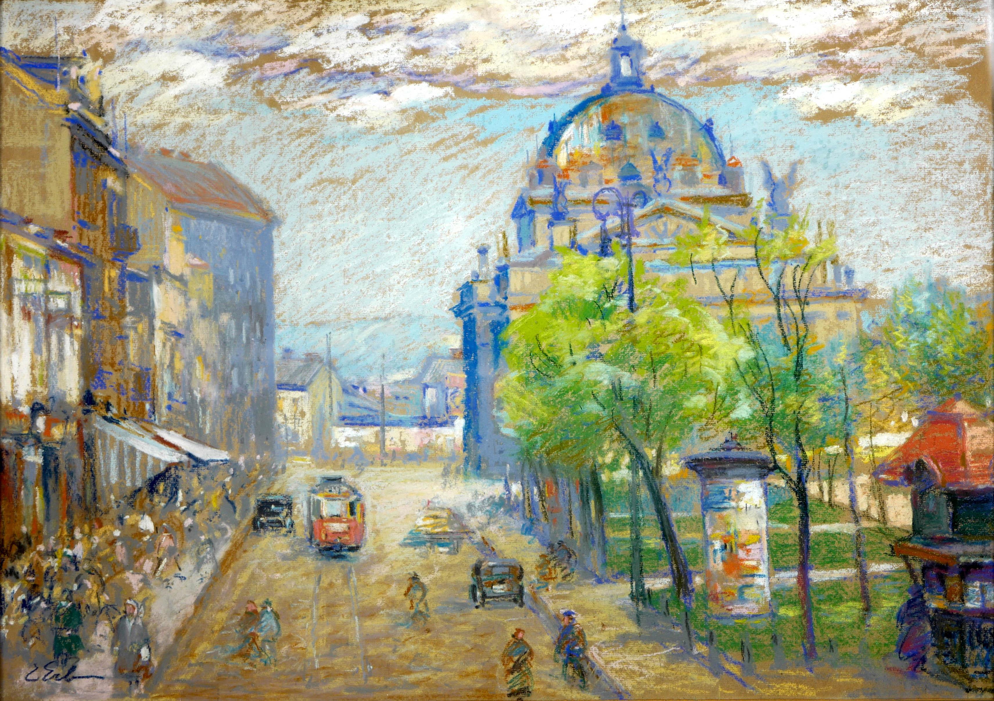 Widok na Lwów z budynkiem Opery