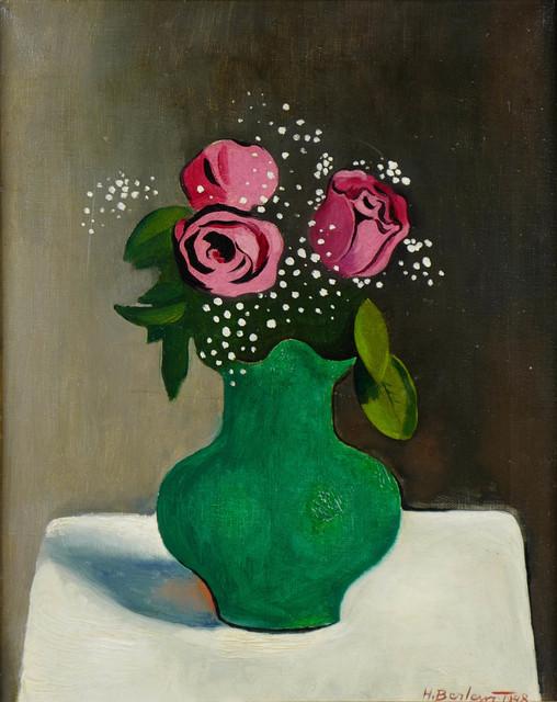 Róże w zielonym wazonie, 1948 r.
