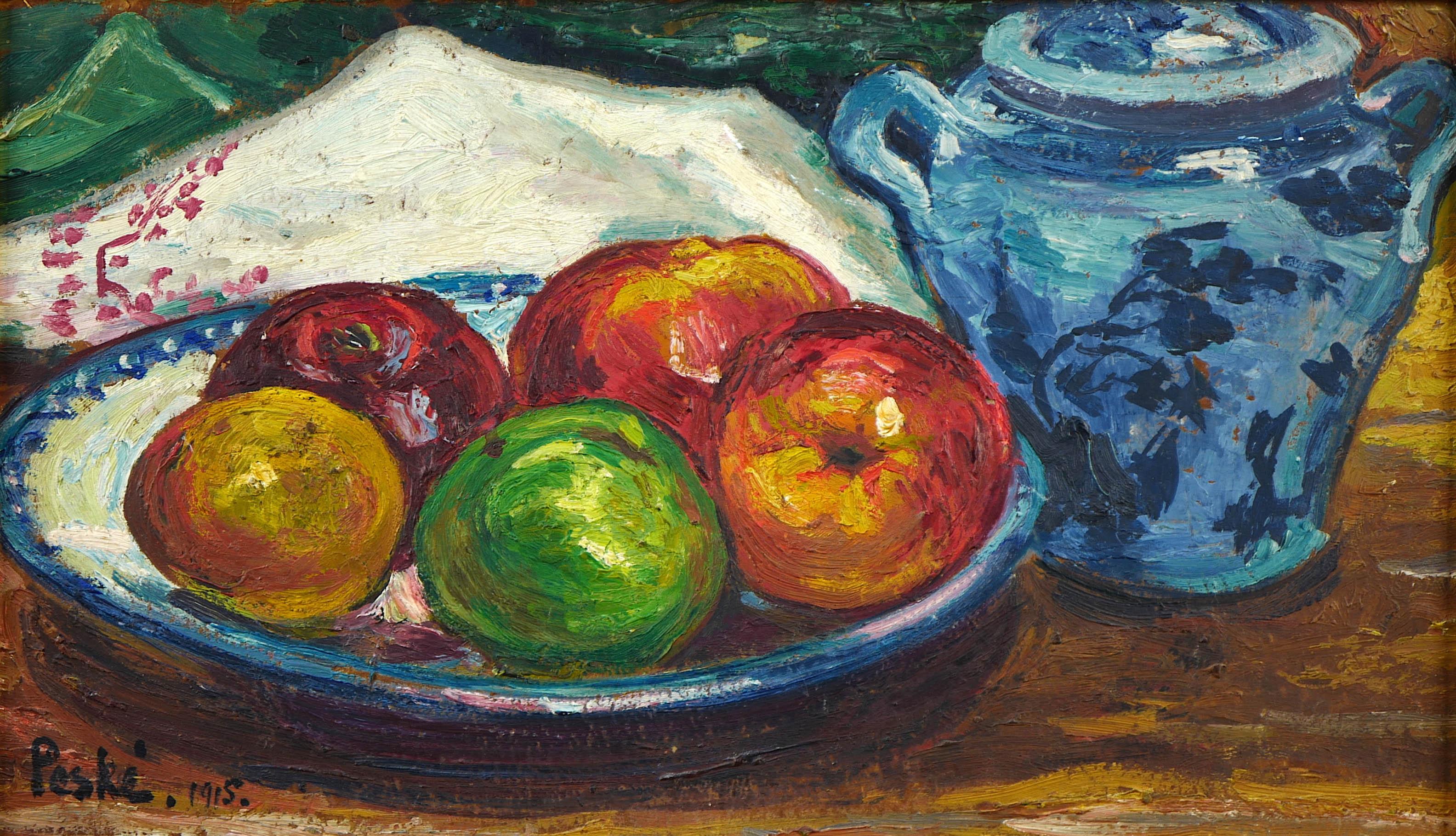 Martwa natura z dzbanem i jabłkami, 1915 r.