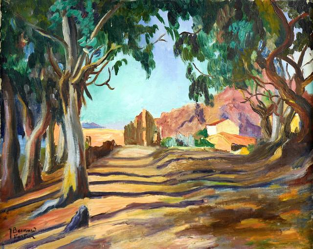 Widok z Prowansji - aleja z drzewami, ok 1930 r.