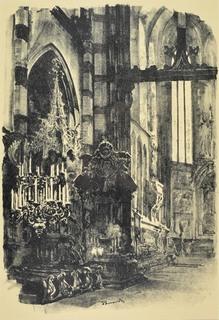 Wnętrze kościoła Mariackiego, 1926