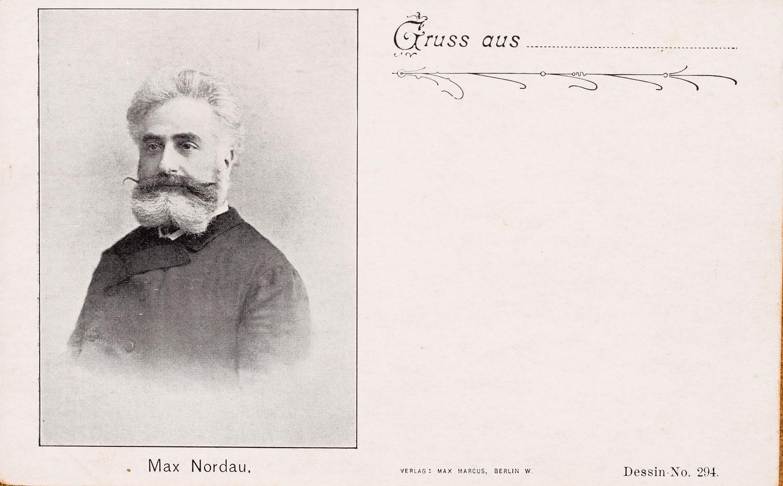 Pocztówka z wizerunkiem Maxa Nordau, XIX/XX w.