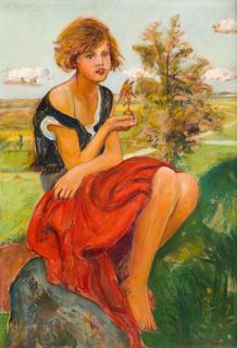 Dziewczynka z figurką Nike, 1926