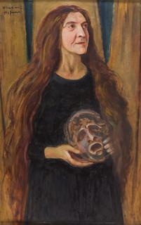 Stanisława Wysocka grająca Hamleta , lata 30. XX w.