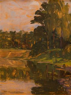 """""""Nad wodą"""", około1924"""