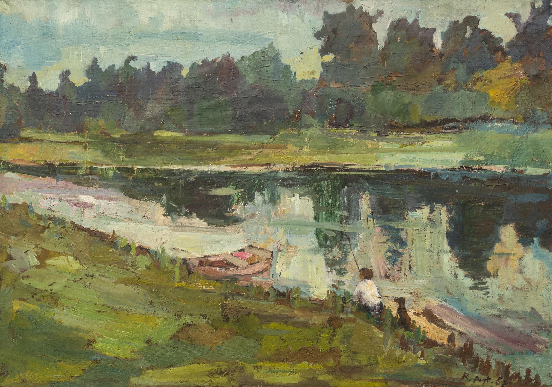Pejzaż z rzeką, 1958