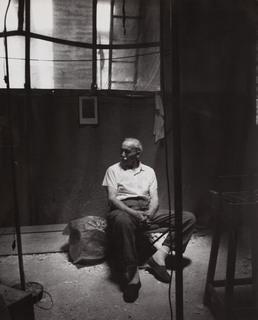 August Zamoyski w pracowni, 1968