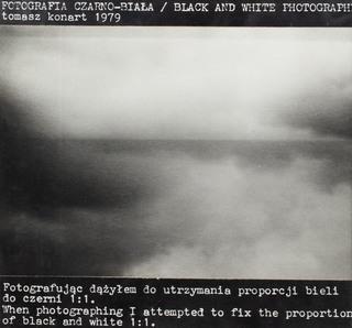 """""""Fotografia czarno-biała"""", 1979"""