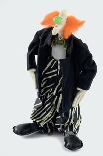 Lalka - klaun z zielonym nosem, 1996