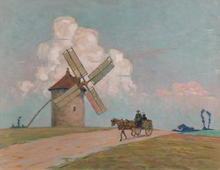 Mijając wiatrak, 1913