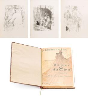 """""""Au Pied du Sinai"""" Geroge'a Clemenceau z litografiamii Henri de Toulouse-Lautreca, 1898"""