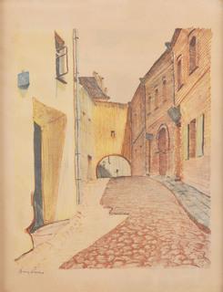 """Zaułek Kazimierzowski z teki """"Wilno"""", 1929"""