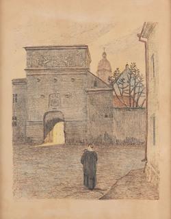 """Ostra Brama z teki """"Wilno"""", 1929"""