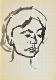Głowa młodej kobiety, 1963